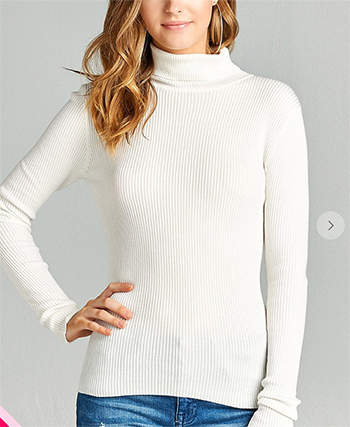 $17.50 - Cute cheap turtleneck long sleeve sweater