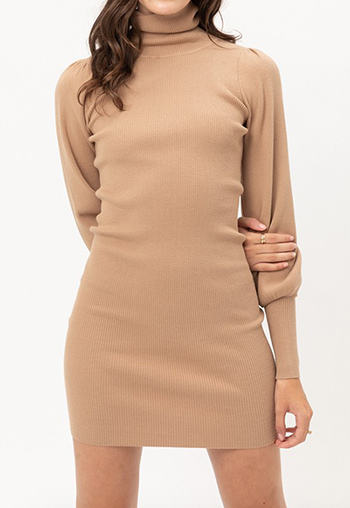 $23.25 - Cute cheap pink boho mini dress - turtleneck sweater dress