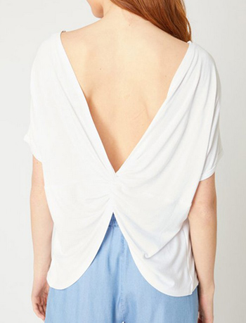 $12.50 - Cute cheap twisted back and open back top