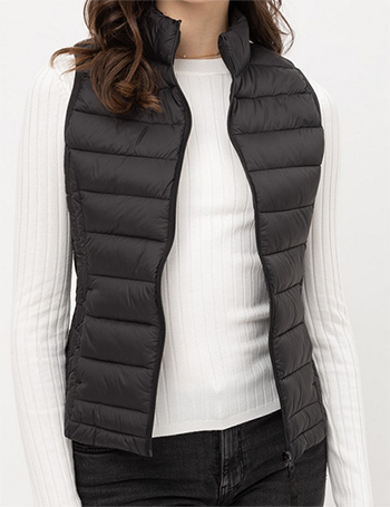 $12.50 - Cute cheap ultra lightweight packable padded puffer vest