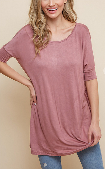 $8.50 - Cute cheap viscose rayon spandex dolman short sleeve top