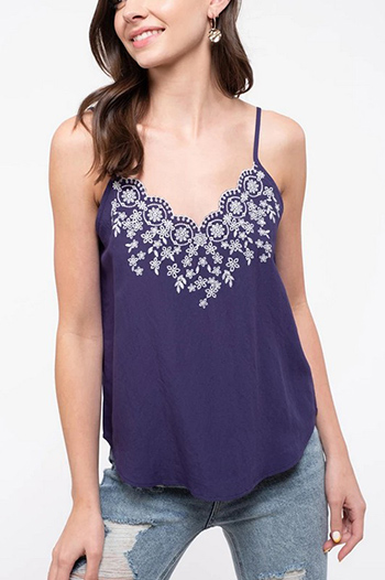 $13.75 - Cute cheap woven cami - adjustable spaghetti straps