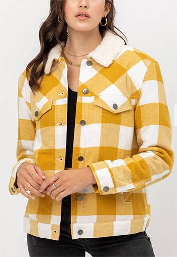 $25.50 - Cute cheap clothes - woven plaid red jacket