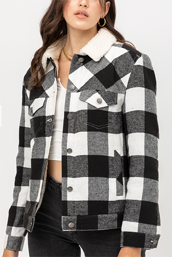 $25.50 - Cute cheap red jacket - woven plaid red jacket