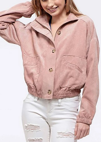 $24.00 - Cute cheap woven solid jacket