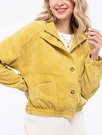 $24.00 - Cute cheap fall - woven solid jacket